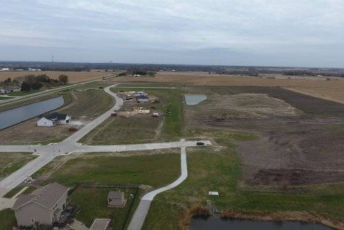 A birds-eye view of Brookhaven Estates during the grading project.