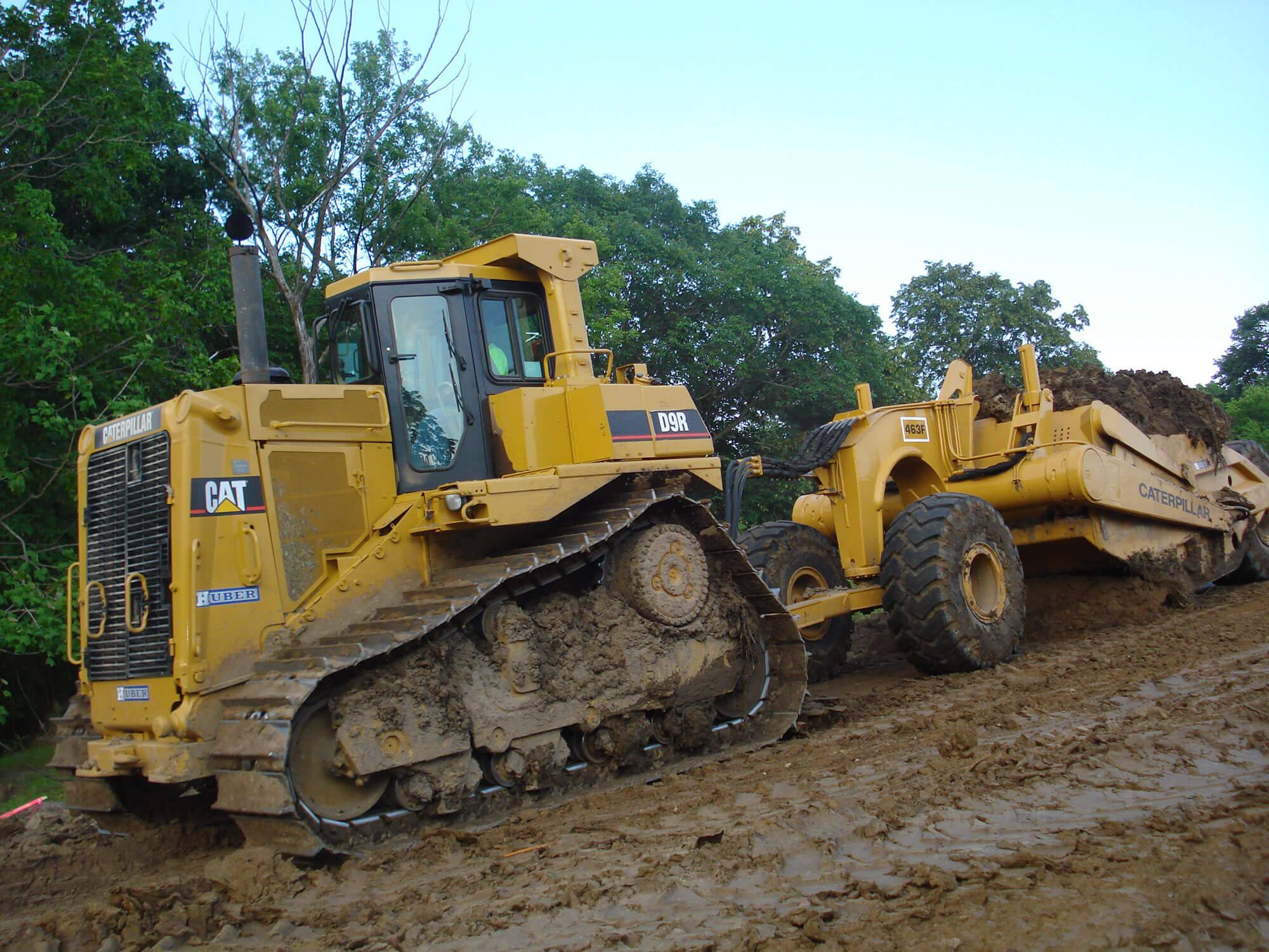 Huber undergoes grading work at Chevalia Ridge.