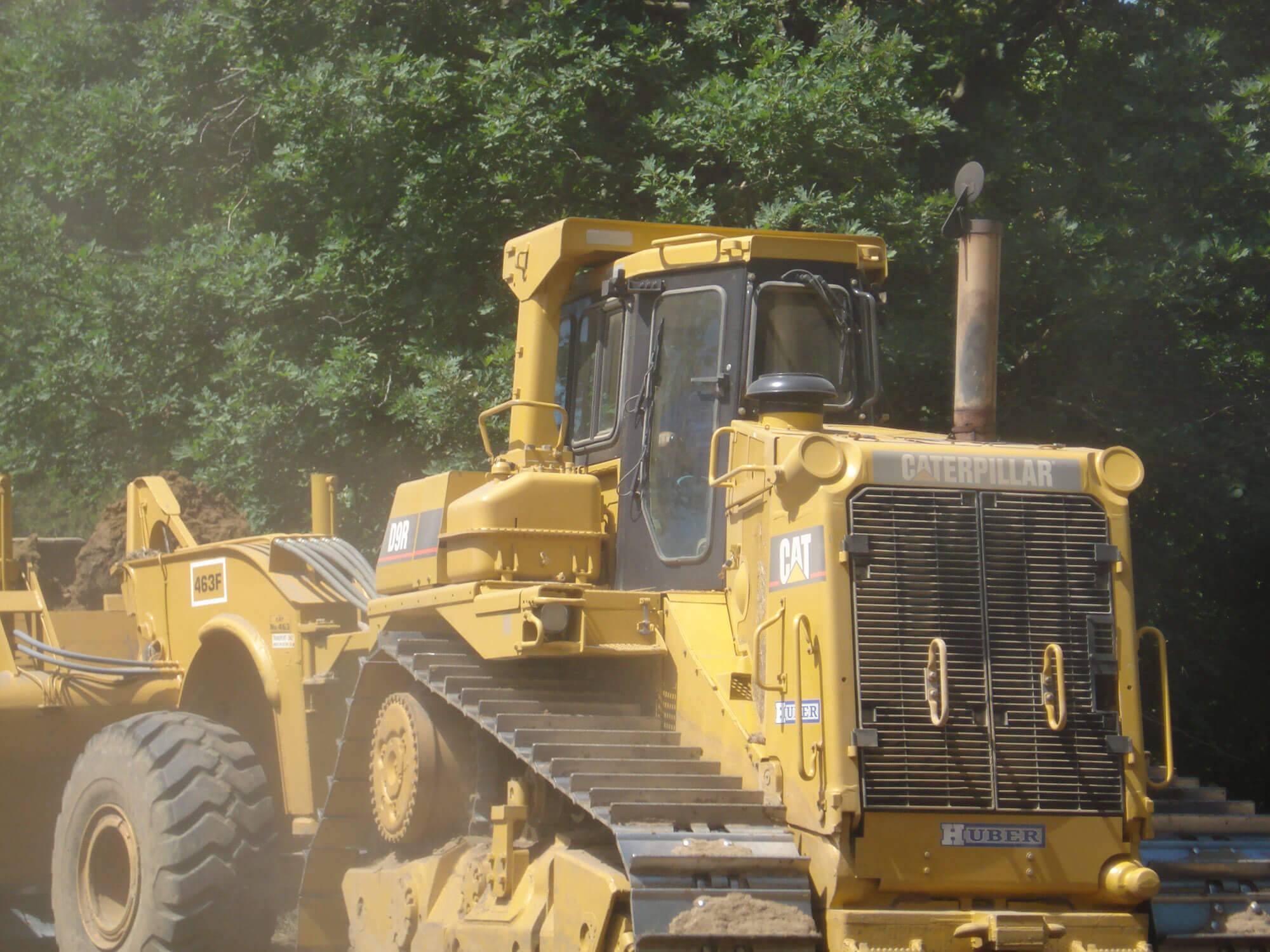A Huber CAT completes work at Chevalia Ridge.